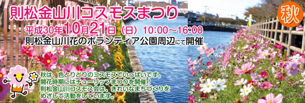 令和元年則松金山川コスモスまつり開催のご案内